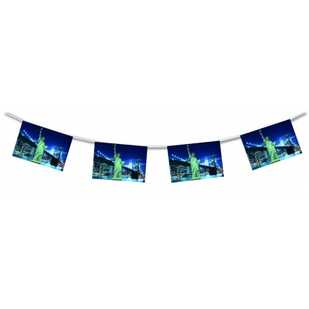 New York bunting 15ft/4,50m lengths American themed party decoration 4th July