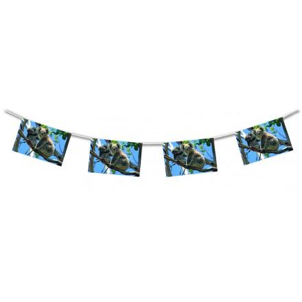 Koala paper bunting 15ft/4,50m lengths flame resistant banner and garland Australian themed party decoration