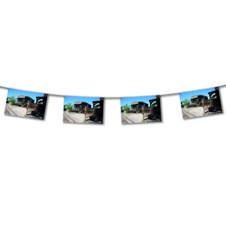 Far west  Freight depot bunting 15ft/4,50m lengths