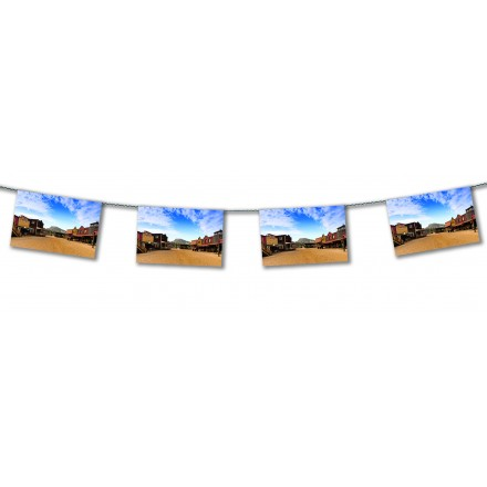 Far West Village bunting 15ft/4,50m lengths