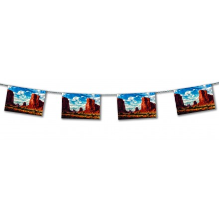 Grand Canyon wild west bunting
