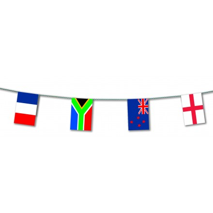 Rugby World Cup 2019 plastic flag bunting 20 teams 20x30cm banner party decoration 33ft / 10m