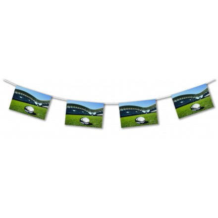 Rugby ground bunting 15ft/4,50m lengths fire retardant banner flags