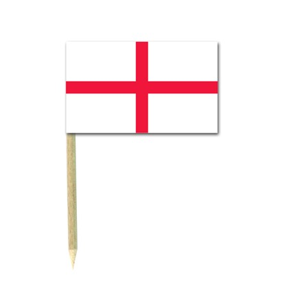 England flag picks - pack of 50