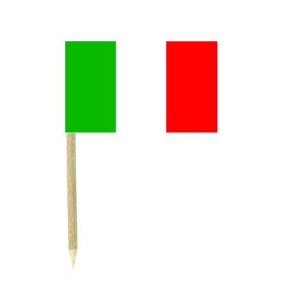 Italy flag picks- pack of 50 food wood sticks party supplies