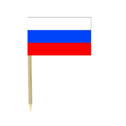 Russia flag picks - pack of 50 food wood sticks party decoration