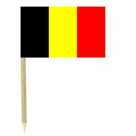 Belgium cocktail picks - pack of 50 food wood sticks party decoration