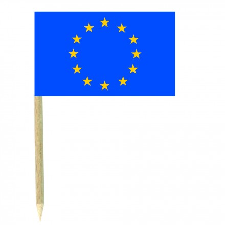Europe cocktail picks - pack of 50 food wood sticks party decoration flag