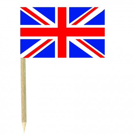 British cocktail picks - pack of 50 food wood sticks party decoration