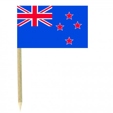 New Zealand cocktail picks - pack of 50 food wood sticks party decoration