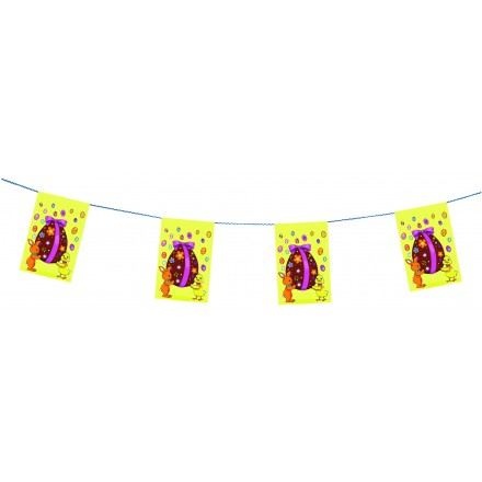 Easter bunting 4,50m long flame retardant paper party room decorating