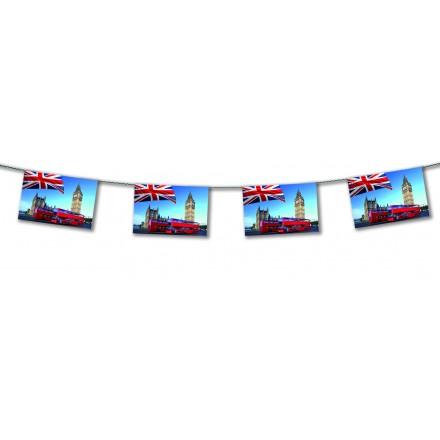 London Bus flag bunting 15ft/4,50m lengths