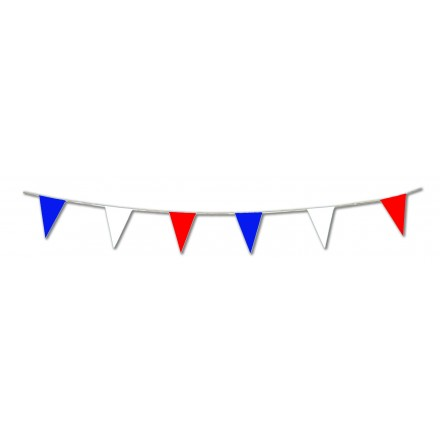 blue white red pennant flag bunting 25x35cm 10m giant outdoor party decoration