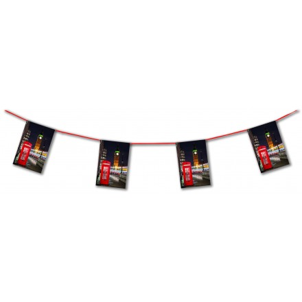 London Phone flag bunting 15ft/4,50m lengths