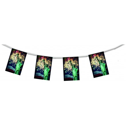 New York flag and statue bunting 15ft/4,50m