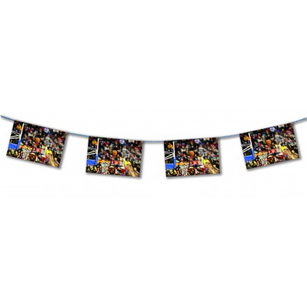 Basketball match bunting 15ft/4,50m lengths