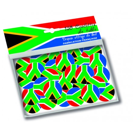 South Africa flag confetti 150 pieces table decoration