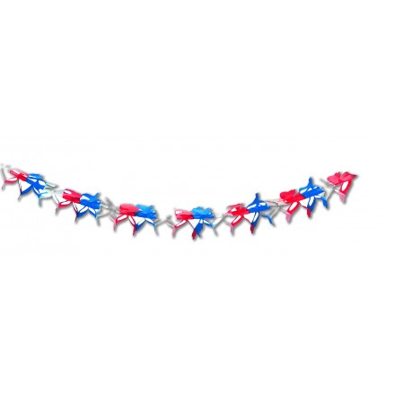 blue white red decoration garland flameproof Patriotic party supplies