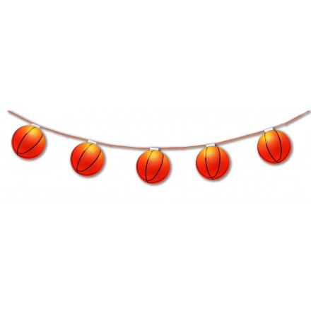 Basketball balloon bunting 10,5ft/3,20m lengths