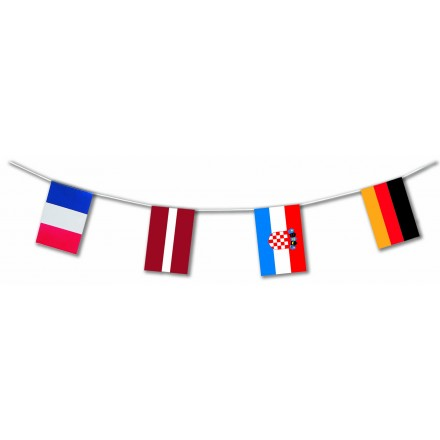 Euro basket 2015 - 24 countries plastic flag bunting