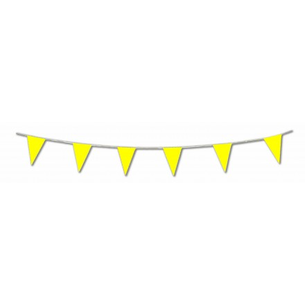 Yellow pennant flag bunting 17ft/5m lengths