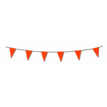 Orange pennant flag bunting 17ft/5m lengths
