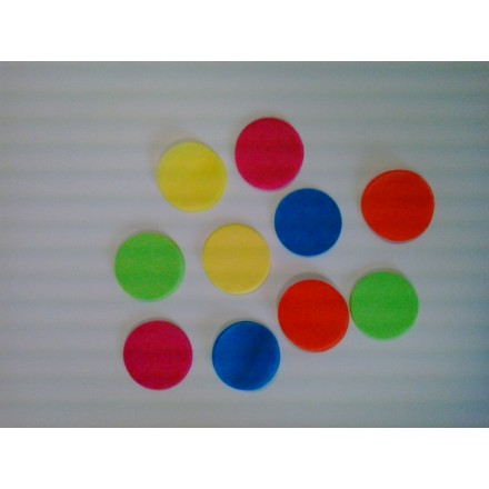 circle 25mm tissue confetti choose your colour