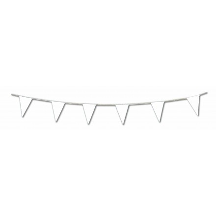 White pennant flag bunting 17ft/5m lengths