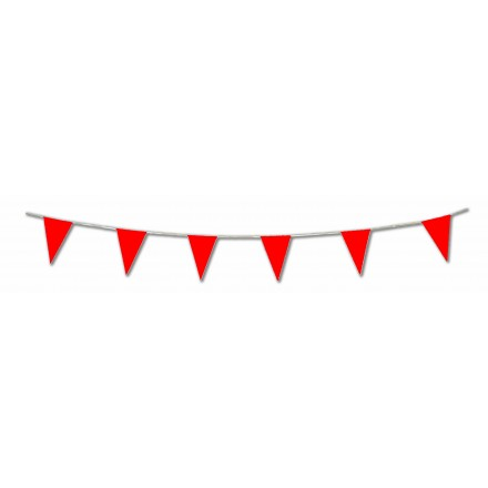 red pennant flag bunting 17ft/5m lengths