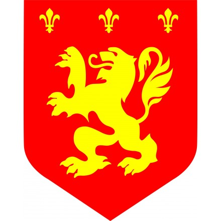 Medieval cutout red lion diam. 12inch/30cm