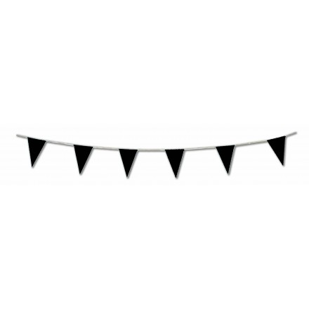 Black pennant flag bunting 17ft/5m lengths