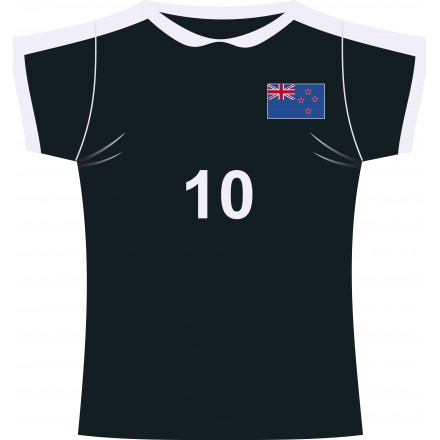 All blacks rugby jersey cutout