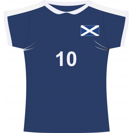Scottish rugby jersey cutout