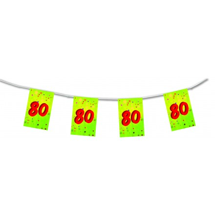 80th birthday bunting 15ft/4,50m lengths party decoration and supplies