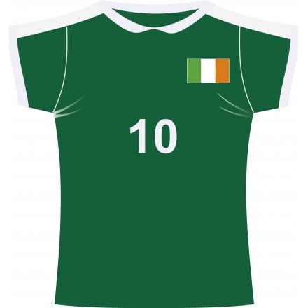 Irish rugby jersey cutout (Fabric)