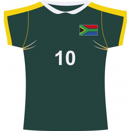 South Africa rugby jersey cutout