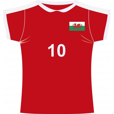 Wales rugby jersey cutout (Fabric)