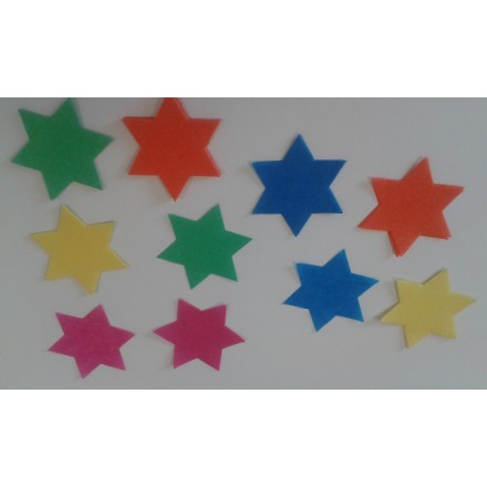 Stars 55mm flameproof tissue confetti 50g