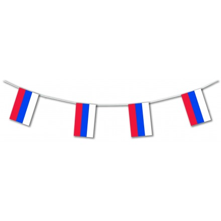 Russian flag bunting 17ft/5m or 33ft/10m lengths