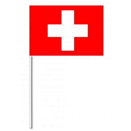 Switzerland paper hand-waving flag 14x21cm pack of 100 hand held party decoration