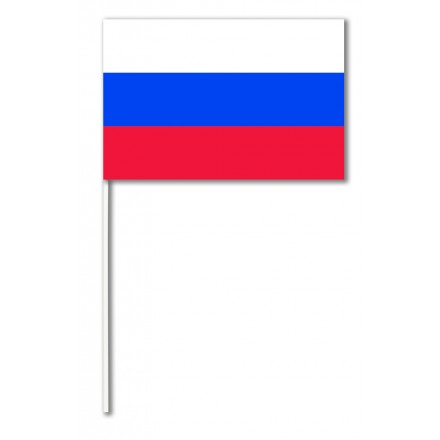 Russian paper hand-waving flag 14x21cm pack of 100 hand held party decoration
