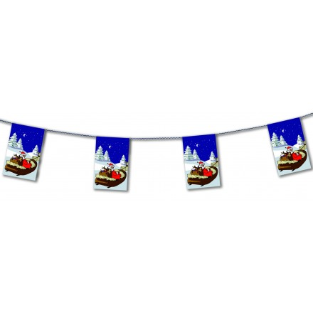 Merry Christmas bunting 15ft/4,50m lengths flame retardant flag banner