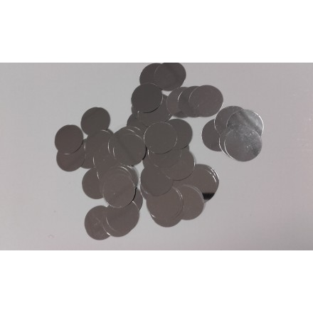 Circle 25mm silver glitter 10g