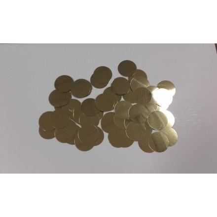 Circle 25mm gold glitter 10g