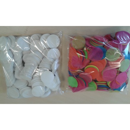 Circles 55mm confetti 1kg in bulk flame-resistant