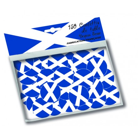 Scottish flag confetti