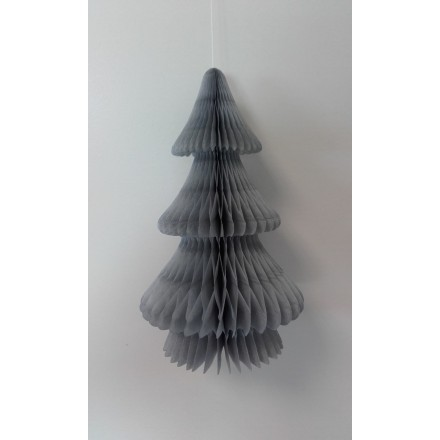 Grey honeycomb tissue paper Christmas Tree
