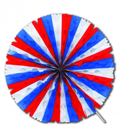 blue white red decoration fan flame resistant Patriotic party supplies