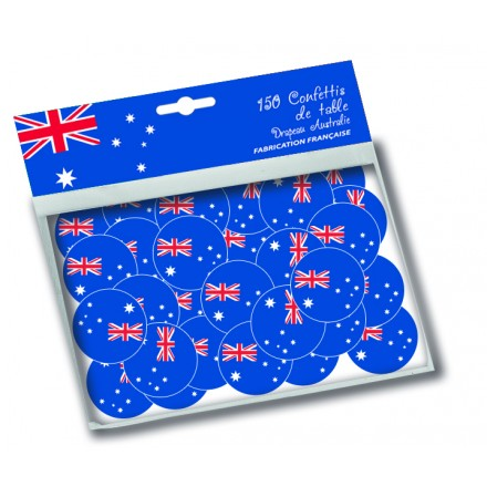 Australian flag confetti