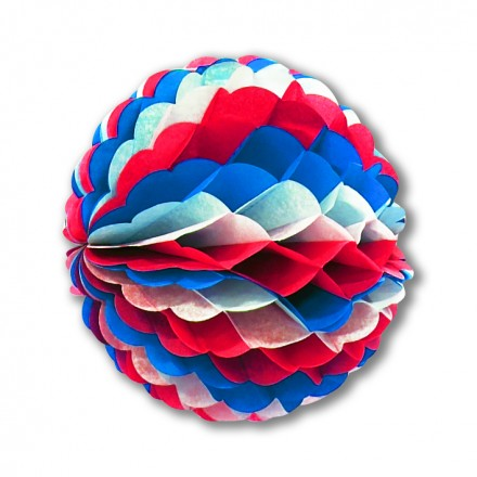 blue white red decoration ball 10inch/25cm flame retardant Patriotic party decoration